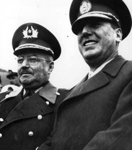Carlos Ibáñez del Campo y Juan Domingo Perón